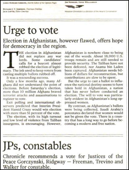 Houston Chronicle staff editorial, 10-12-2004