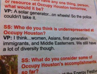 Occupy Houston News Nov 2011